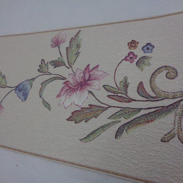 bloemen behangrand paars blauw 61883