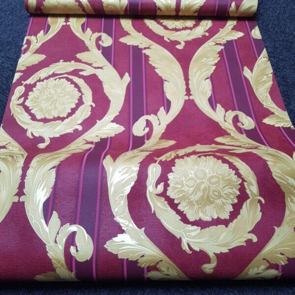 versace-behang-bordeau-goud2