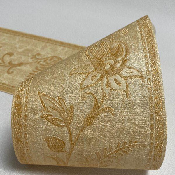 behangrand-goud-bloemen