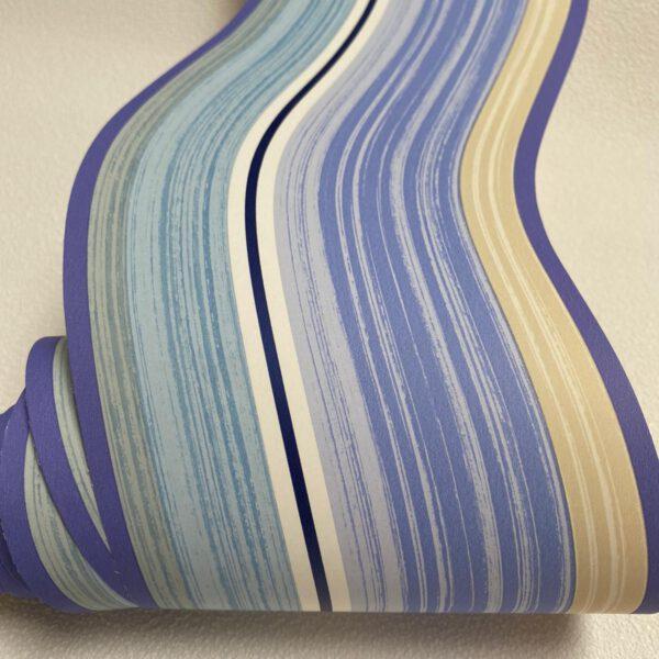 draperie behangrand blauw