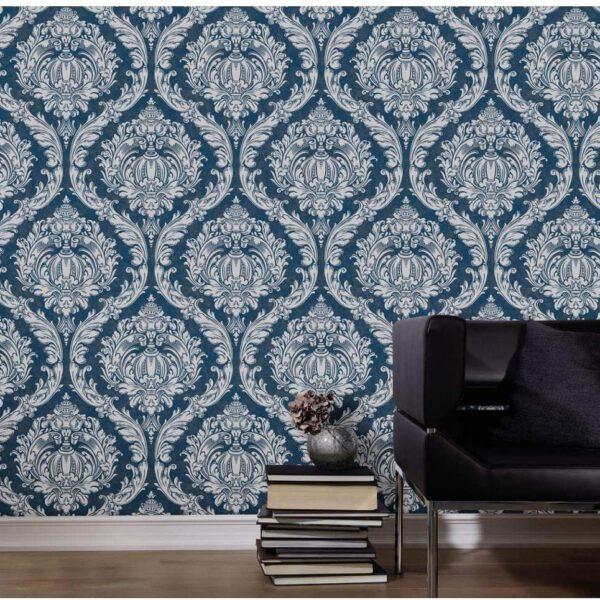 carat-blauw-barok-behang
