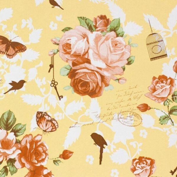 54728-bloemen-vogel-behang