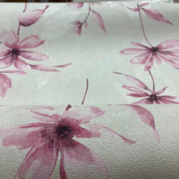 608472 vliesbehang roze bloemen