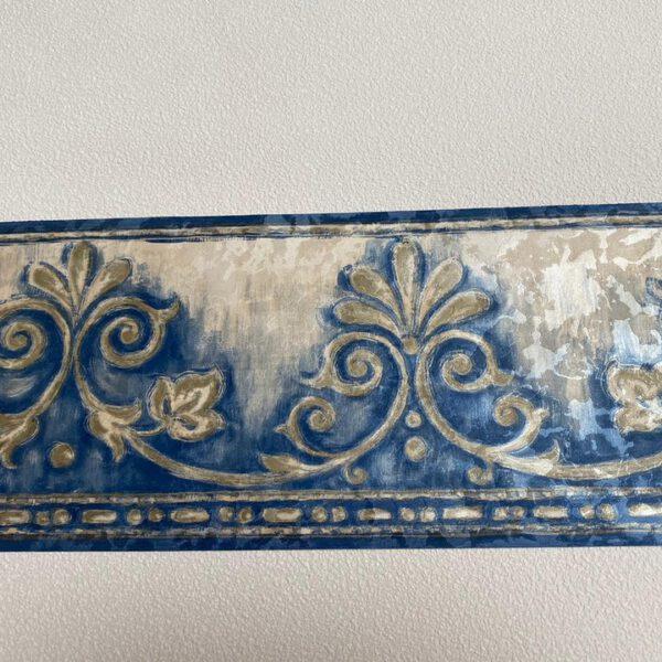 behangrand-franse-lelies-blauw-beige