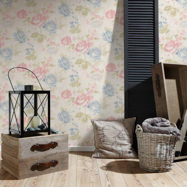 grote-bloemen-behang-34773-1-blauw-slaapkamer