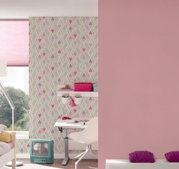 retro-behang-ruiten-grijs-roze-slaapkamer-32993-2