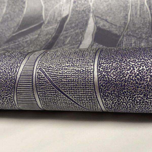 behang-paars-zilver-vlies