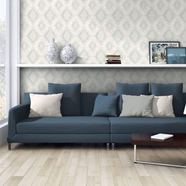 329893-barok-behang-blauw-glitters-woonkamer