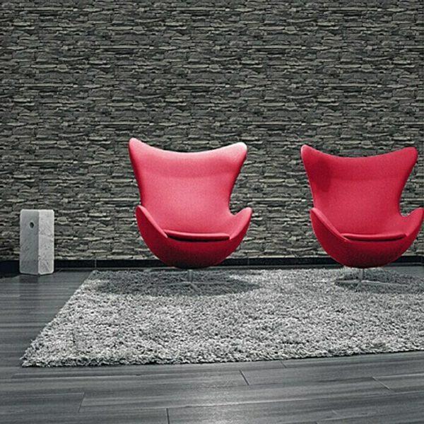 3d-steen-behang-antraciet-23109728-woonkamer