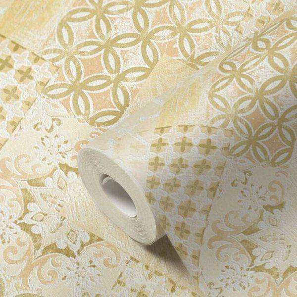 behang-goud-patchwork-324435-rol