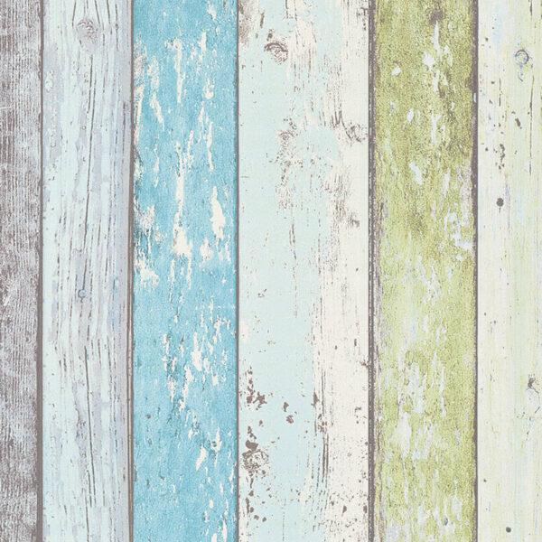 sloophout-behang-blauw-groen-855077