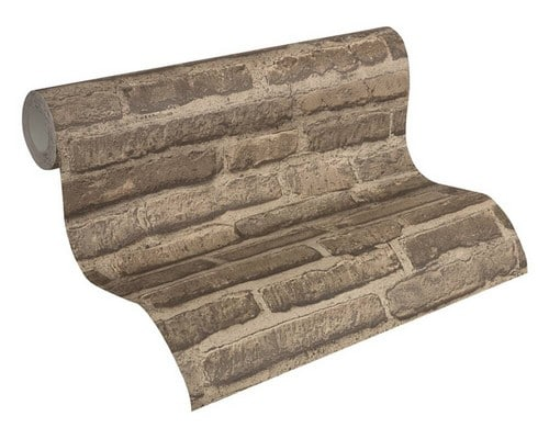 steen-behang-3d-bruin-307472-rol