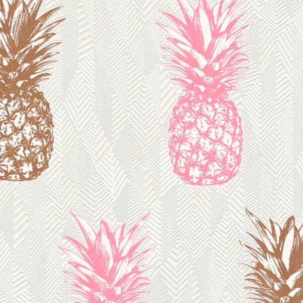 trendy-behang-roze-ananas-359973