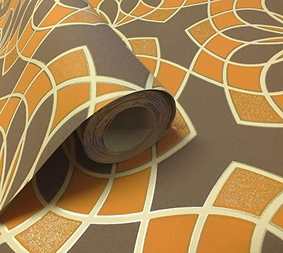 304039-glitter-behang-oranje-bruin